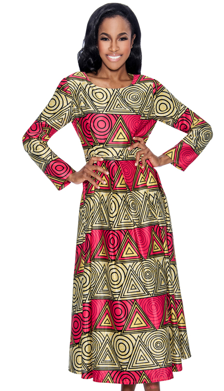 Giovanna D1340-312 ( 1pc Novelty Womens Dress In Uniqe Pattern Print )