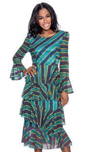Giovanna D1488-IH ( 1pc Layered Dress For Church With Multi Color Design Concept )