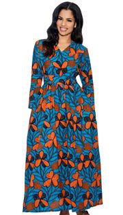 Giovanna D1331-R-228 ( 1pc Novelty Printed Church Dress )