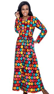 Giovanna D1331-RW-228 ( 1pc Novelty Printed Dress For Church )