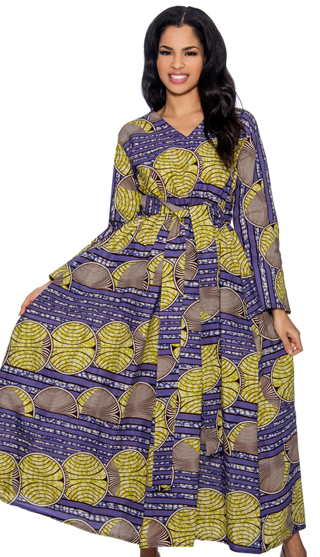 Giovanna D1331-P-228 ( 1pc Novelty Printed Ladies Church Dress )