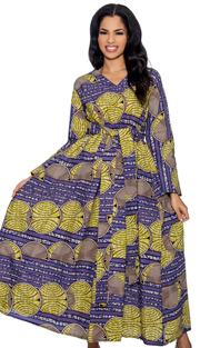 Giovanna D1331-P-228 ( 1pc Novelty Printed Ladies Church Dress )