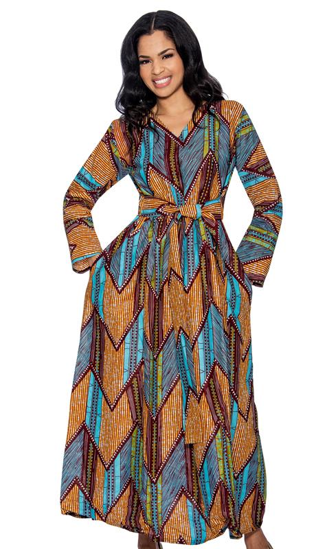 70c46bf7c87 Giovanna D1331-B-228 ( 1pc Novelty Printed Womens Dress )