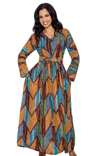 Giovanna D1331-B-228 ( 1pc Novelty Printed Womens Dress )