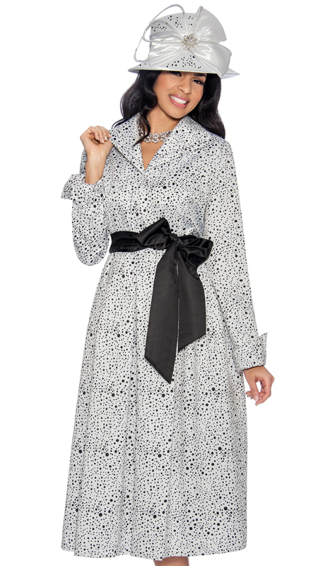 Giovanna D1335-CO ( 1pc Novelty Dress For Church With Unique Polka Dot Design And Belted Front )