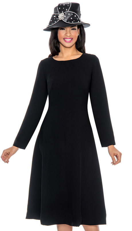 Giovanna D1451-BLK  ( 1pc Silk Look Women Dress For Church )