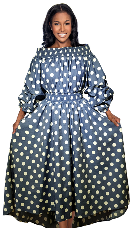 Giovanna D1324 ( 1pc Womens Dress With Polka Dot Print )