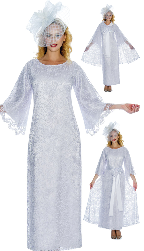 Giovanna D1344 ( 3pc Multi Purpose Lace Church Dress With Matching Lace Cape, The Cape Can Also Be Used As An Overlay Skirt )