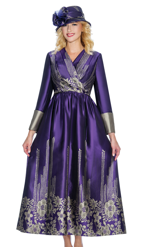 Giovanna D1498-PG ( 1pc Digital Print First Ladies Dress For Church With Bold Pattern )
