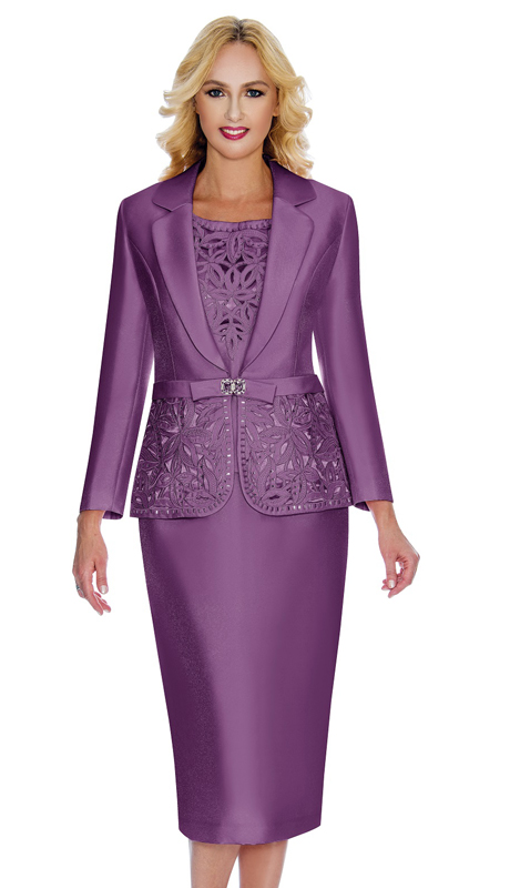Giovanna 1007-DL ( 3pc Silk Look Mia Church Suit For Women )