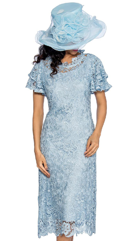 Giovanna D1511-IB ( 1pc Short Sleeve Lace Dress )
