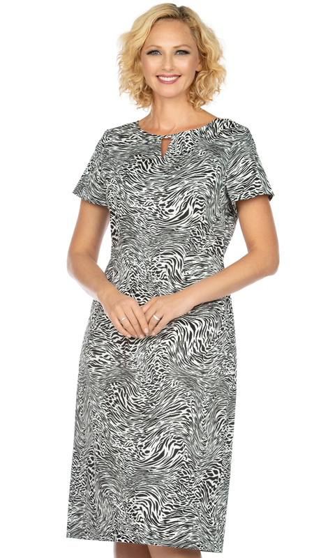 Giovanna D1514-Z ( 1pc Novelty Short Sleeve Dress With Unique Multi Pattern )