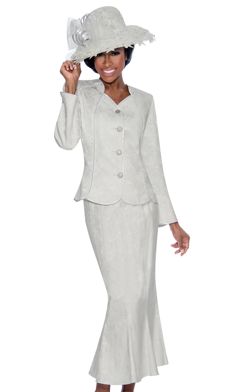 Giovanna 0898-W-220 ( 2pc Novelty Ladies Suit With Rhinestone Trim Buttons )