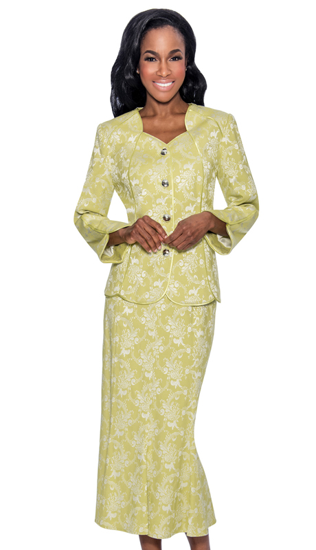 Giovanna 0898-S-220 ( 2pc Novelty Ladies Suit With Rhinestone Trim Buttons )