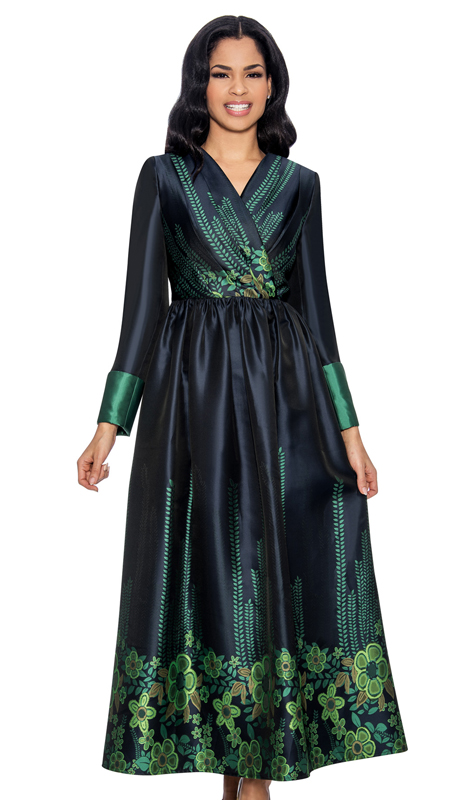 Giovanna D1341-S-312 ( 2pc Silk Look Dress For Church In Unique Pattern )