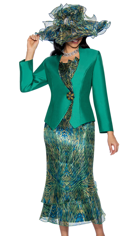 Giovanna G1051-G-220 ( 2pc Novelty Church Suit In An Elegant Print )