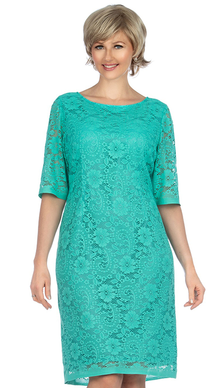 Giovanna D1513-MI ( 1pc Elegant Lace Short Sleeve Dress For Church )