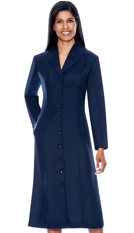 GMI G11674-NA ( 1pc Embroidered Shawl Collar Church Dress With Hidden Side Seam Pockets )