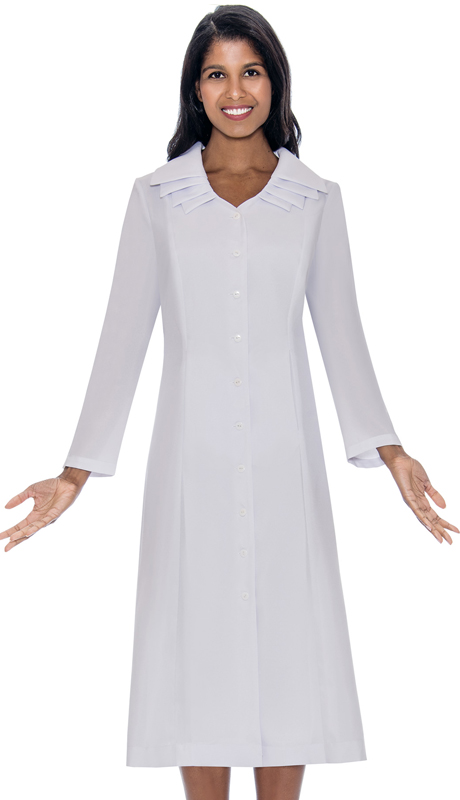 GMI G11721-WH ( 1pc Multi Layer Collar Church Dress )