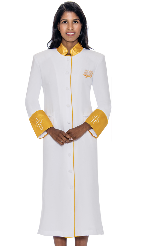 GMI RR9001-WH ( 1pc Womens Cassock Church Robe )