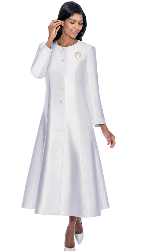 GMI RR9041-WH ( 1pc Silk Look Church Robe With Flared Design )