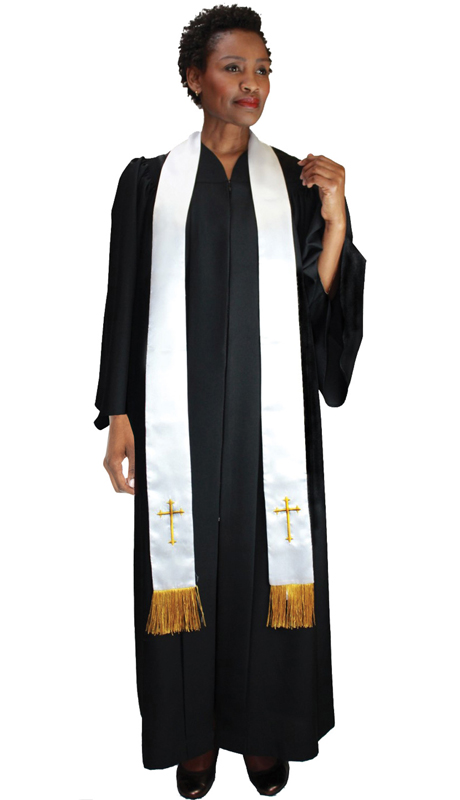 GMI RR9071-BK ( 1pc Baptismal Church Robe )