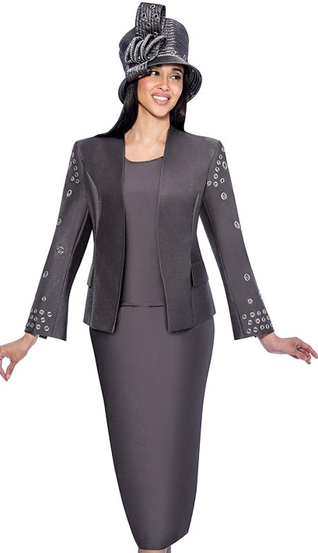 GMI 6333-GM-IH ( 3pc Silk Look Ladies Church Suit )