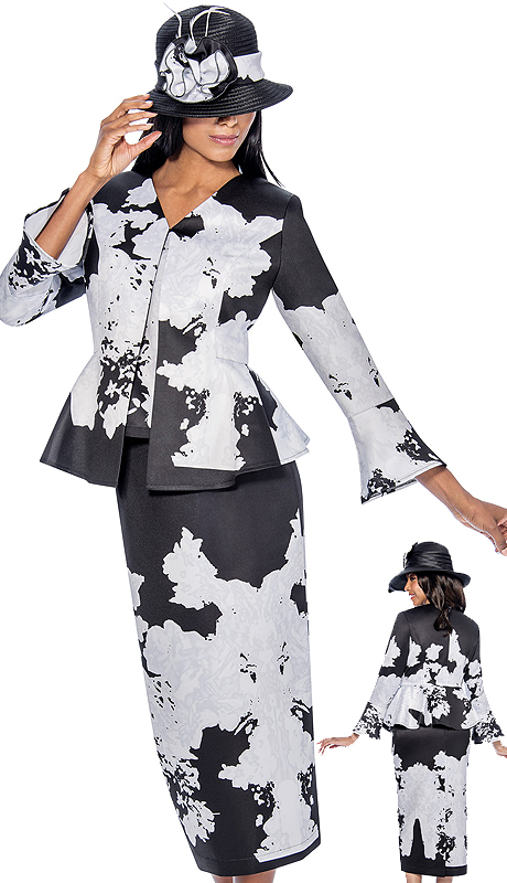 GMI 6363-BW-CO ( 3pc Ladies Church Suit )