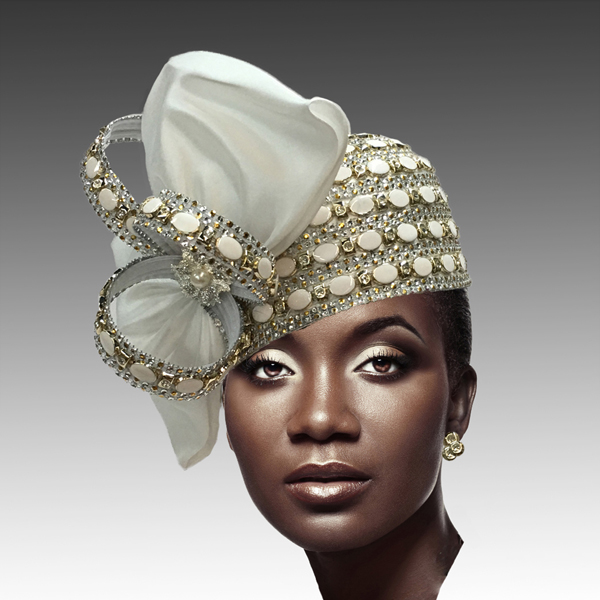 2188 ADORA-IV ( Jewel Encrusted Flapper Hat )