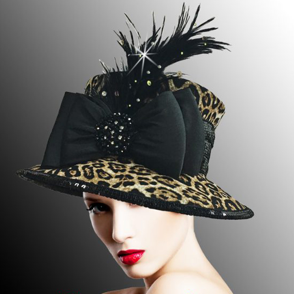 2522 TARZAN ( Leopard Bucket with Feather and Bow )