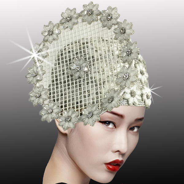 2525 ALABASTER-WH ( Mosaic Inspired Crystal And Stone Bubble Cap )