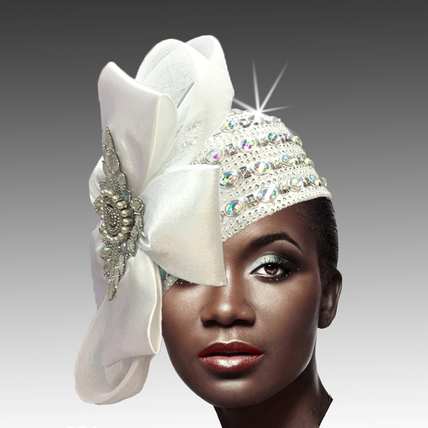 2188 ADORA-W ( Jewel Encrusted Flapper Hat )