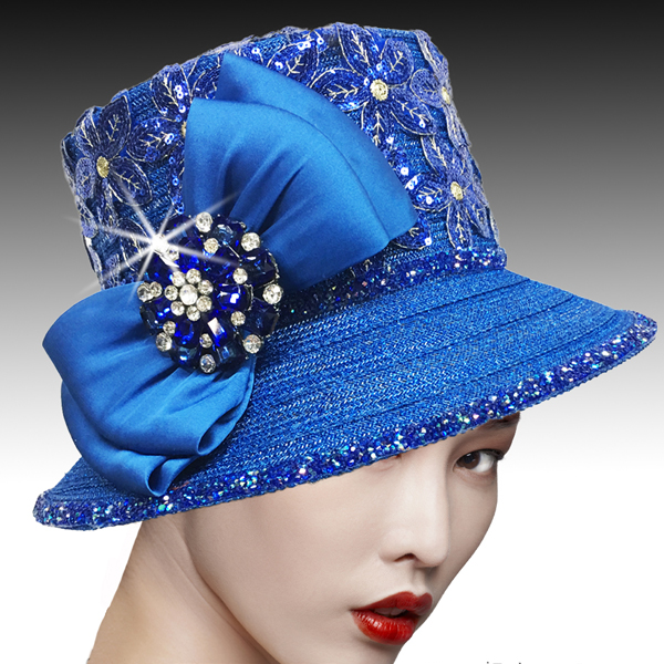 2526 SUSSEX-RO ( Embroidered and Beaded Bucket Hat With Profile Bow )