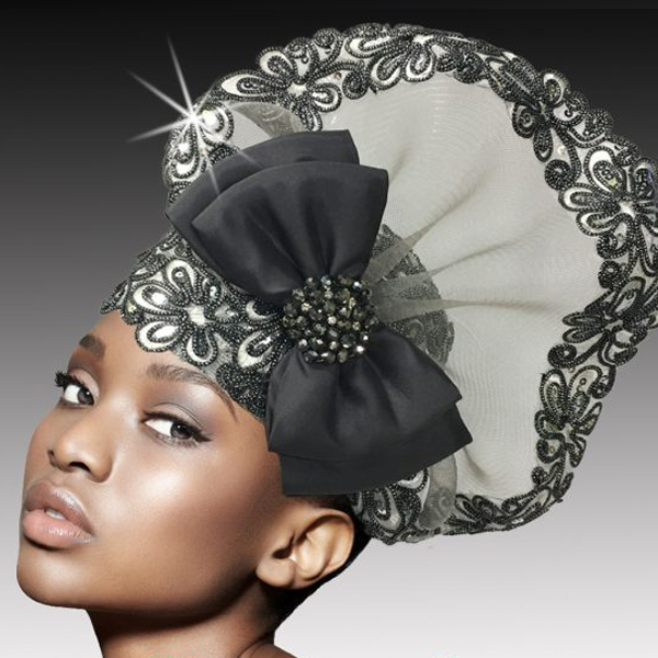2527 POMPADOUR-GM ( Metallic Soutache and Beaded Bubble )