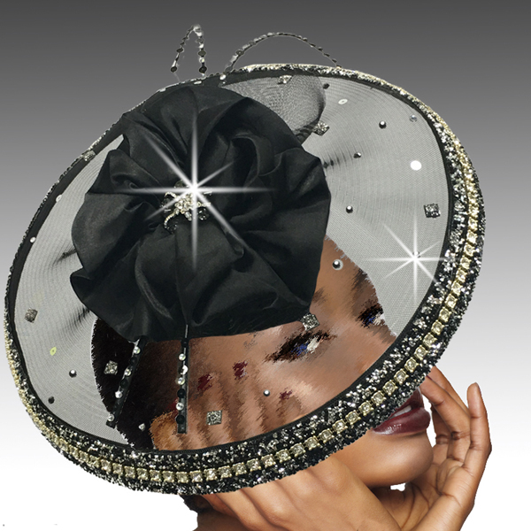 2532 VORTEX-BLK ( Illusion Jewel Ring Hat )