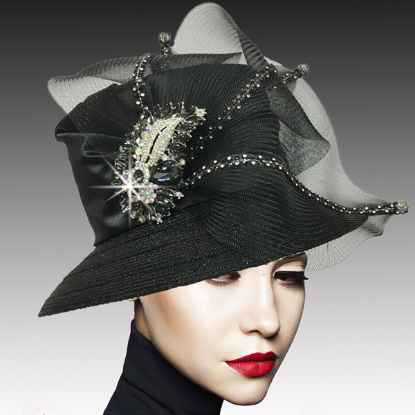 2533 MURPHY-BLK ( Classic Mesh Bucket with Jewel Leaves )