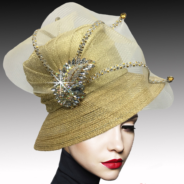 2533 MURPHY-G ( Classic Mesh Bucket with Jewel Leaves )