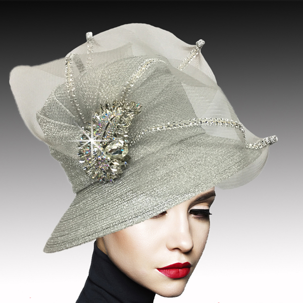 2533 MURPHY-SIL ( Classic Mesh Bucket with Jewel Leaves )