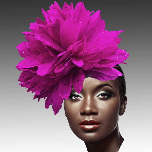 FA2280 DAZZLE-F ( Fireworks of  Feather Fascinator )