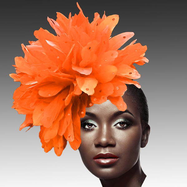 FA2280 DAZZLE-OR ( Fireworks of  Feather Fascinator )