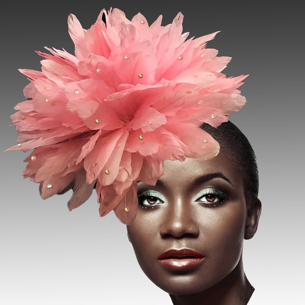 FA2280 DAZZLE-P ( Fireworks of  Feather Fascinator )