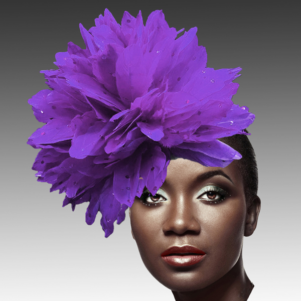 FA2280 DAZZLE-PU ( Fireworks of  Feather Fascinator )