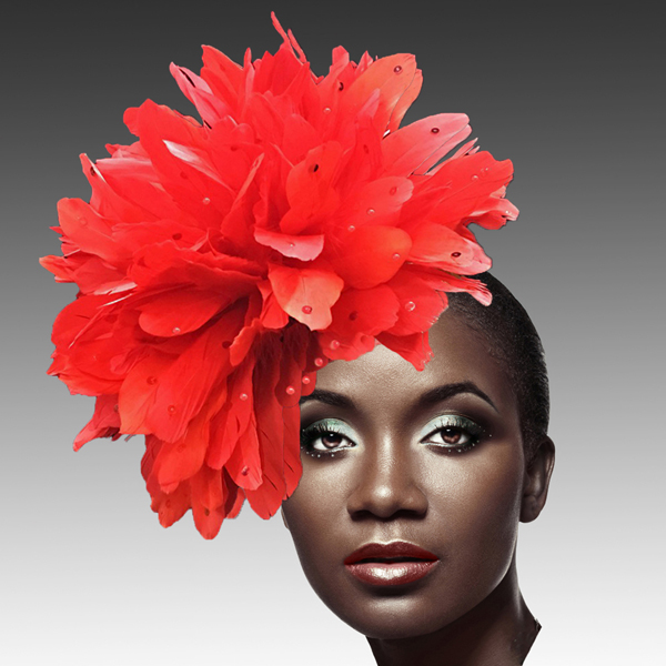 FA2280 DAZZLE-R ( Fireworks of  Feather Fascinator )