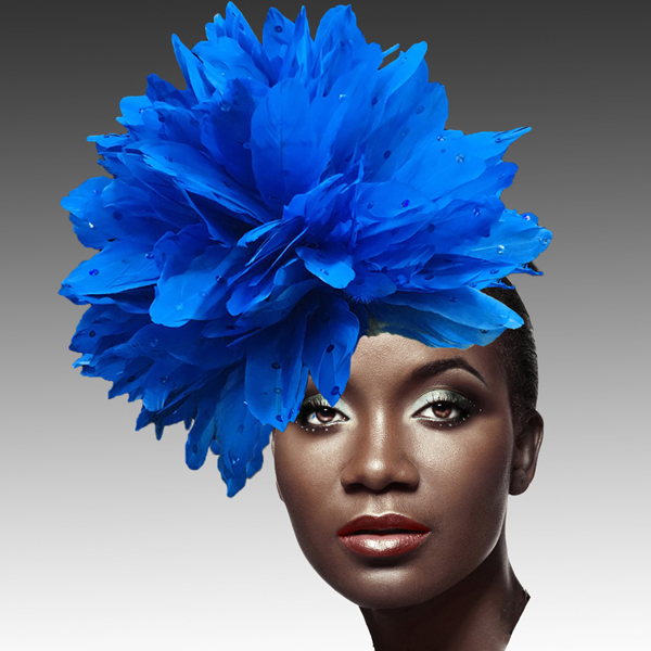 FA2280 DAZZLE-RO ( Fireworks of  Feather Fascinator )