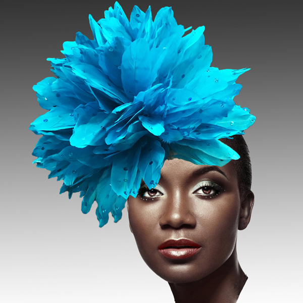 FA2280 DAZZLE-TU ( Fireworks of  Feather Fascinator )
