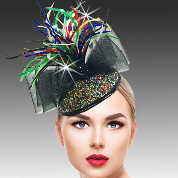 FA2500 BUGLE FASCINATOR-BM ( Bugle Beaded Headband Fascinator )