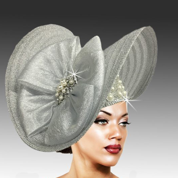 2503 FLYING NUN-SIL ( Sculpted Large Brim with Pearl and Crystal Accents )