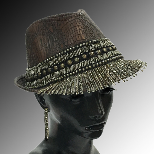 2157 LUCIOUS-BR ( Fedora with Gold Stalactites )
