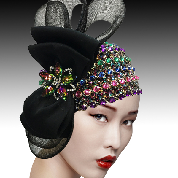 2505 SPEAKEASY - BM ( Jewel Encrusted Flapper Bubble with Profile Bow )