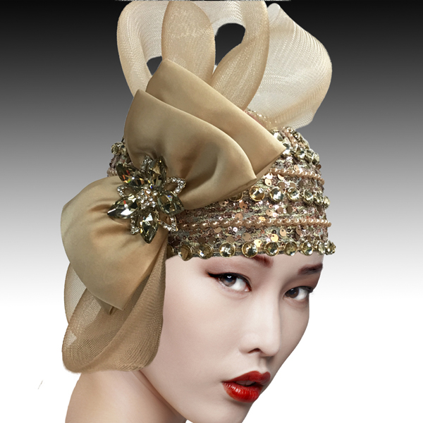 2505 SPEAKEASY-C ( Jewel Encrusted Flapper Bubble with Profile Bow )